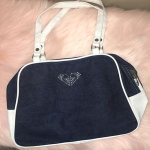 NEW ROXY DENIUM WITH WHITE SIDES BAG!